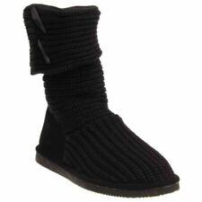 Bearpaw 10 M Knit Tall Boots Fashion Winter Shoes Black Women's