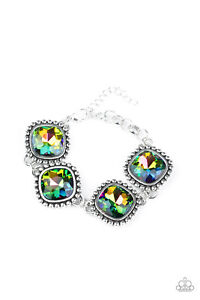 ~Megawatt~ Multi Oil Spill Clasp Bracelet Paparazzi Jewelry htf