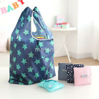 Women Univeral Foldable Reusable Eco Bag Storage Shopping Tote Grocery Bags UK