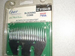 NEW OSTER 20 TOOTH BLOCKING COMB SHEARMASTER SHOWMASTER USA