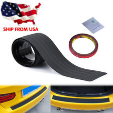 Universal Rear Trunk Sill Plate Bumper Guard Protect Rubber Pad Cover Sticker KY