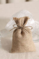 9X12CM RUSTIC ECO JUTE BURLAP BAGS HESSIAN SACK WEDDING PARTY FAVOR GIFT UK