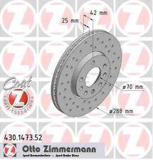 Disque de frein avant ZIMMERMANN PERCE 430.1473.52 OPEL VECTRA B 36_ 2.0 DTI 16V
