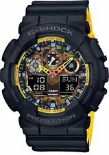 Cyber Monday Deal New Casio G-Shock GA100BY-1A Yellow/Black Camo Men's Watch