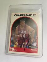 Charles Barkley Signed Autographed 1989 NBA Hoops #110