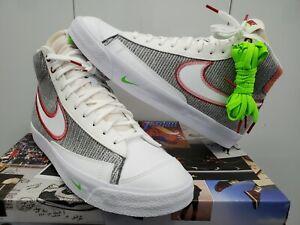 Nike Blazer Mid '77 Recycle Jerseys - Grey/Sport Red/Electric Green - Size 9