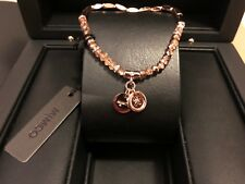Mimco Memoir Beaded Stretchable Bracelet Rose Gold Tone Authentic New RRP$39.95