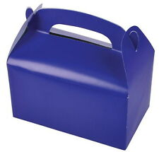 24 BLUE PARTY TREAT BOXES FAVORS GOODY BAGS BAZAAR PRIZE GIFT BASKET CARNIVAL