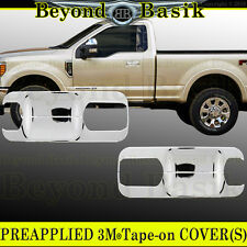 2017 Ford F250 F350 Reg/Xtd Cab Chrome Door Handle Bowl Plate Covers Overlay