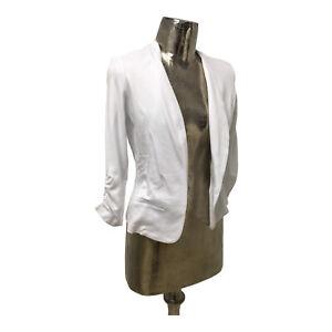 Fransa NEW Ladies/Womens White Suit Jacket Blazer UK Size S 6-8 (EU 36) RRP £39