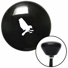 White Crow Black Retro Shift Knob fits wildlife veterinary pet fluffy furry peta
