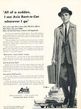 1956 Avis Rental Car Ford - Vintage Advertisement Car Print Ad J476