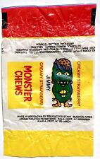 Vintage 1984 MONSTER CHEWS Chewy Candy JIMMY Wax Wrapper STRAWBERRY