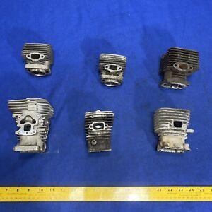 6 Small Motor Heads Sci-fi Industrial Steampunk Metal Gears Parts Supplies Lot 3