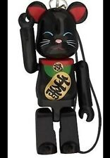 Medicom Bearbrick 2012 Happy Manekineko 70% Neko Black Lucky Cat Be@rbrick 1pc