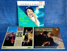 CATERINA VALENTE - SONGS I'VE SUNG, I HAPPEN, I WISH - (3) LONDON LP'S - U.K