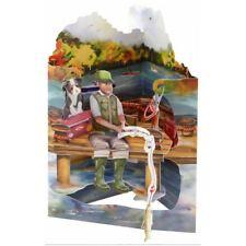 Santoro 3D Pop-Up Swing Card  - Fishing