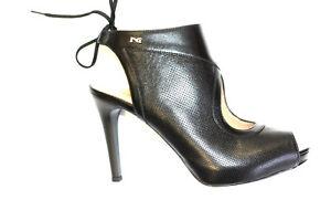 sandalo elegante nero giardini 805440 100 legata accollata platò interno