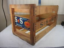 Vintage SOS Brand Cantaloupes Wood Fruit Shipping Crate Paper Label USA Calif.