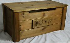 handmade solid wooden pine toy box BRITISH OAK
