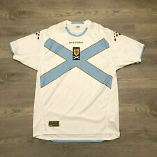 Scotland Diadora Soccer Football Official Jersey White/Sky Blue Mens Size Large