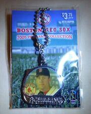 2005 Curt Schilling #38 Photo Pendant Boston Red Sox Silvertone Keychain FOB