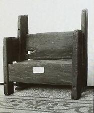 St. Augustine's Chair of Wooden Planks, England, Magic Lantern Glass Slide