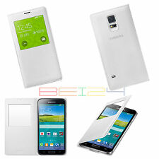 Original Samsung Galaxy S5 S View Case Cover Schutzhülle Handytasche EF CG900 W