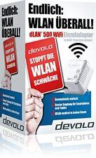 Devolo dLAN 500 WiFi Powerlan Adapter, LAN Port, Powerline WLAN Repeater