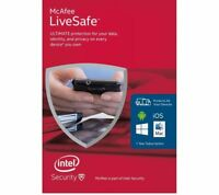 McAfee LiveSafe Unlimited Devices / 1 Year Antivirus