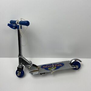 Build A Bear Workshop Scooter Scootfur Adjustable Height Foldable Blue Toy