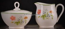 "8 RETIRED CASTLE COURT JAPAN ""APRIL FLOWERS"" LIDDED SUGAR & CREAMER."