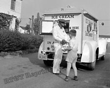 Photograph of a Good Humor Ice Cream Truck in Greenbelt Maryland Year 1943  8x10