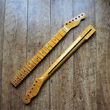 Tele Telecaster One Piece FLAME MAPLE Guitar Neck Vintage Gloss 22 Fret Jumbo