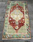 Decorative Accent Rug, Turkish Vintage Rug, Small Rug, Entryway Rug 2.5x4.6ft