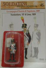 """Soldatini Napoleonici in piombo """"TROMBETTIERE, 18° di linea, 1809"""" mm. 54 c/fasc"""