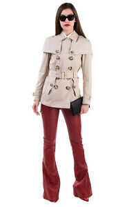 RRP €1175 BURBERRY BRIT Trench Coat Size 16 / XL Belted Double Breasted Collared