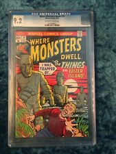Marvel Comics - Where Monster Dwell #24 1/73 - CGC 9.2 - Free Ship!