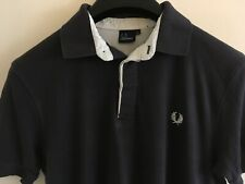 FRED PERRY MENS BLUE POLO SHIRT SIZE L