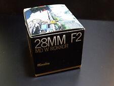 Minolta MD W ROKKOR 28mm 1:2  as new! mint!