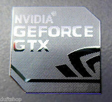 NVIDIA GEFORCE GTX Polished Metal Aufkleber / Sticker 18mm x 18mm [830]