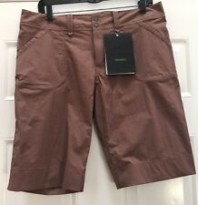 NWT ARC'TERYX PARAPET Shorts CROPS Red rock Quick Dry Women's Hiking 10