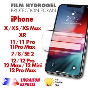 ✅Hydrogel Film Protection écran pour Apple iPhone 12,12Pro max,11,SE 2,7,8,XR,+
