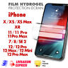 ✅Hydrogel Film Protection écran pour Apple iPhone 11,12,12Pro max, SE 2 2020,7,8