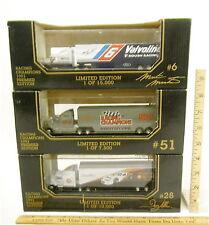 Rare 1993 Racing Champions 1:87 LE Transporters Martin #6 Allison #28 RC #51 NIB