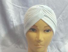 STRETCHY LADIES CHEMO TURBAN INDIAN CLOCHE  TRENDY PLEATED HEADBAND HEAD WRAPB4
