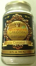 Certified Organic Virgin Tropical Traditions GOLD LABEL coconut oil - 1 Quart