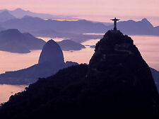 RIO DE JANEIRO BRAZIL SUGARLOAF MOUNTAIN CORCOVADO 16x20 CANVAS PRINT 4