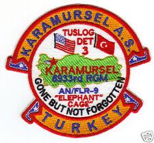 USAF BASE PATCH, KARAMURSEL AIR STATION, TUSLOG DET 3, AN/FLR-9, ELEPHANT CAGE Y
