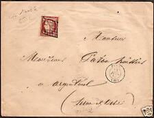 FRANCE n° 6 1 F carmin s. lettre de Paris p. Argenteuil